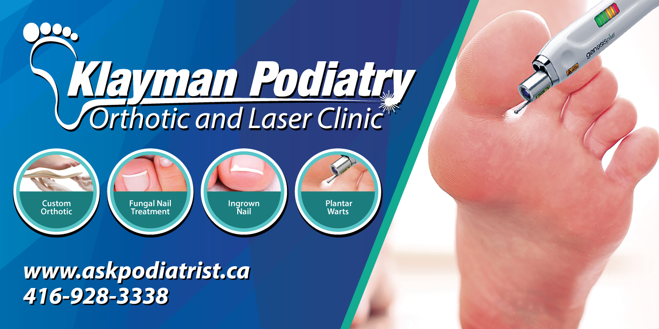Klayman Podiatrist Ingrown ToeNail Centre, Toronto,ON